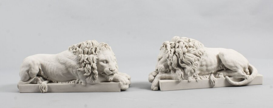 Decorative Small  Pair of Marble Lions 21st Century After Canova | Ref. no. 04925s | Regent Antiques