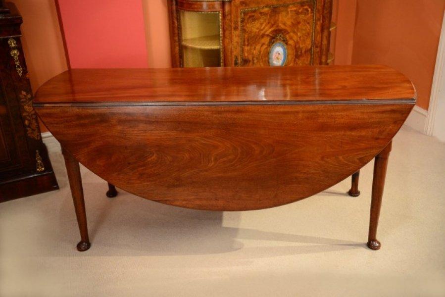 Antique Mahogany George II Gate Leg Dining Table