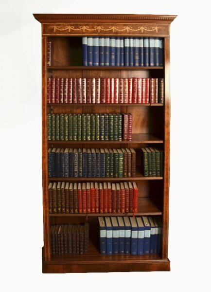 Bespoke Sheraton Revival Burr Walnut Open Bookcase | Ref. no. 05519 | Regent Antiques
