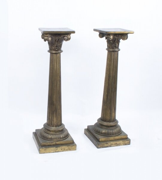 Antique Pair Corinthian Column Pedestals c.1900 | Ref. no. 05553 | Regent Antiques