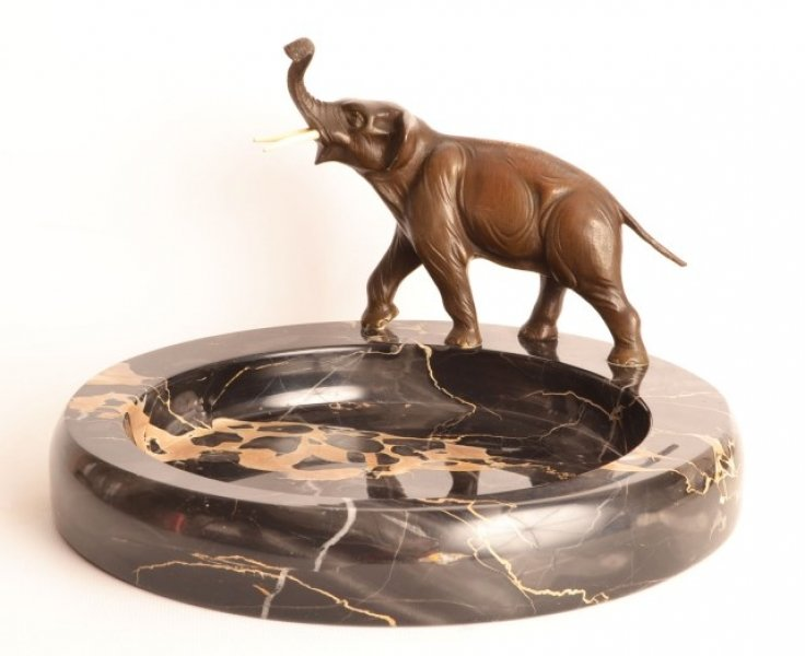 Antique Bronze Elephant Sculpture Marble Bowl | Ref. no. 05632 | Regent Antiques