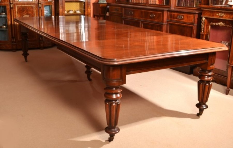 vintage victorian dining conference table 11ft mahogany ref no 05831. Black Bedroom Furniture Sets. Home Design Ideas