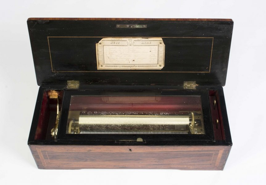 Antique Swiss 8 Air Rosewood Musical Box c.1880 | Ref. no. 05850 | Regent Antiques