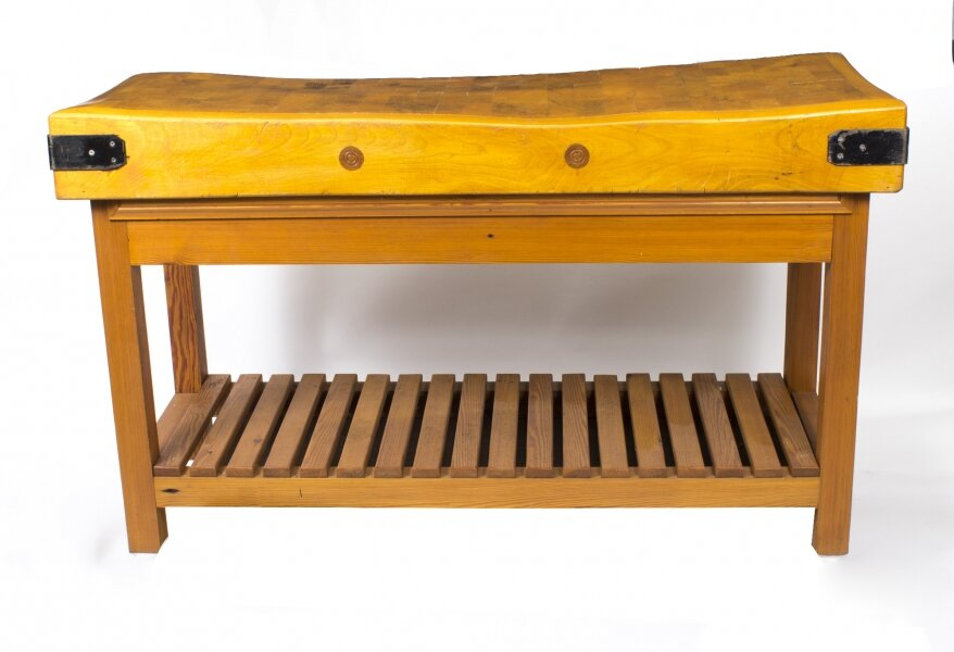 A Large Mid Century Modernist Butchers Block-Table circa 1960\