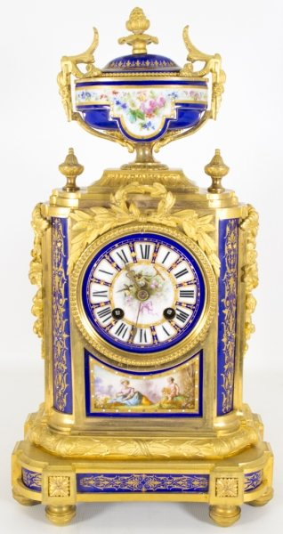Antique French Ormolu Porcelain Mantel Clock c.1860 | Ref. no. 06148 | Regent Antiques