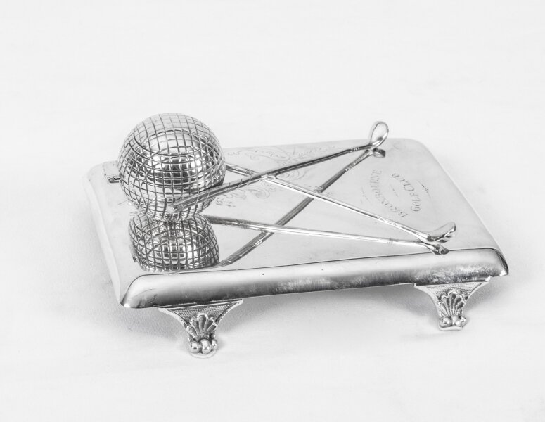 antique silver plated inkwell | Ref. no. 06233 | Regent Antiques