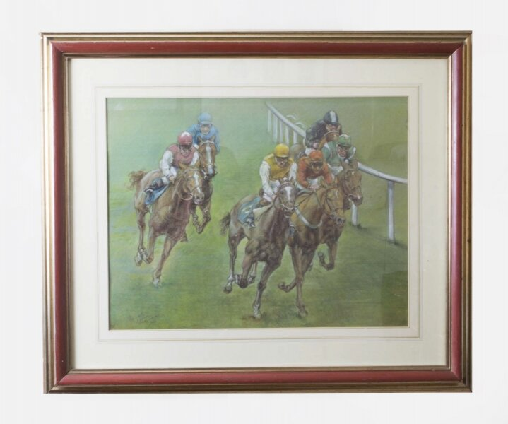 Pastel by Franco Matania The 3:30 Cheltenham | Ref. no. 06693 | Regent Antiques
