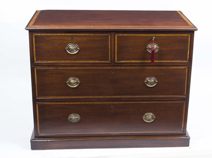 Antique Victorian Inlaid Mahogany Chest c.1880 | Ref. no. 06695 | Regent Antiques