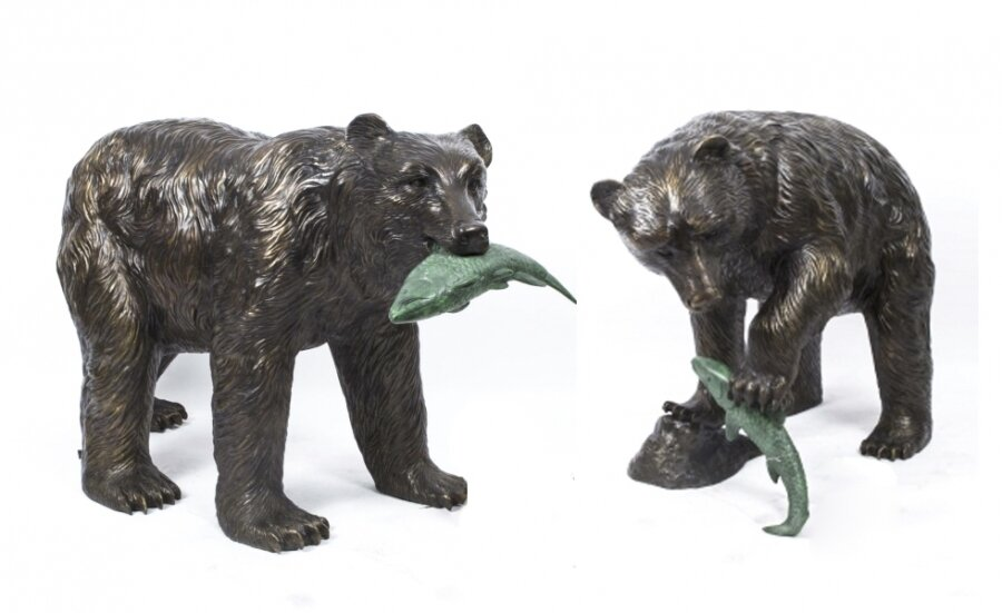 A Pair of Bronze Statues Grizzly Bears | Ref. no. 06791x | Regent Antiques