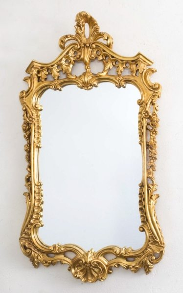 Beautiful Decorative Italian Giltwood Decorative Mirror 92 x 52 cm | Ref. no. 06815 | Regent Antiques