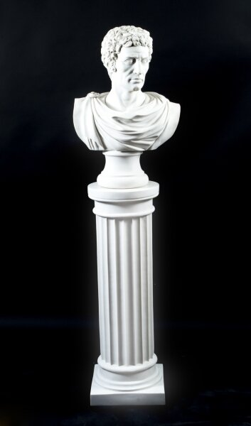 Stunning Marble Bust Lucius Junius Brutus on Pedestal | Ref. no. 07013a | Regent Antiques