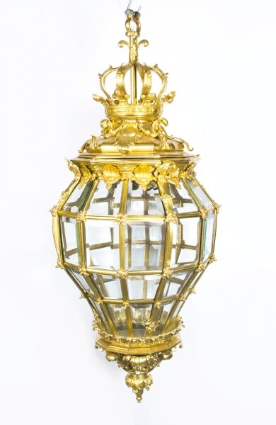 Versailles Massive Bronze Diamond Baluster 3 Light Lantern | Ref. no. 07079 | Regent Antiques