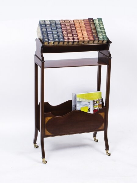 Antique Edwardian Inlaid Mahogany Bookstand c.1900 | Ref. no. 07224a | Regent Antiques