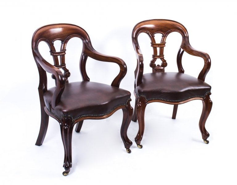 Antique Pair William IV Mahogany &  Leather Armchairs c,1830 | Ref. no. 07344 | Regent Antiques