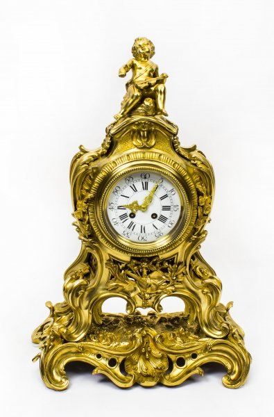 Antique French Gilt Bronze Rococo Mantel Clock Dated 1893 | Ref. no. 07409 | Regent Antiques