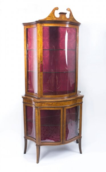 Antique Edwardian Inlaid Display Cabinet c.1900 | Ref. no. 07454 | Regent Antiques