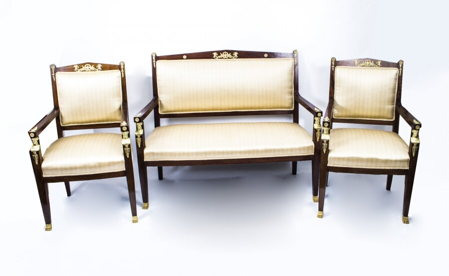 Antique French Empire Mahogany 3 Piece Salon Suite c.1900 | Ref. no. 07486 | Regent Antiques