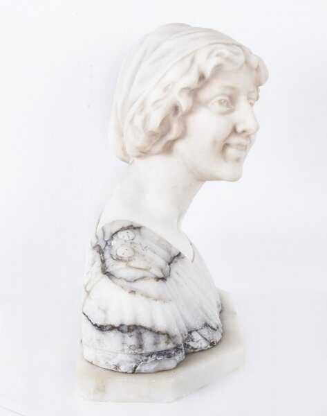Antique Marble Bust of Iullette by Prof G.Bessi c1900 | Ref. no. 07584 | Regent Antiques