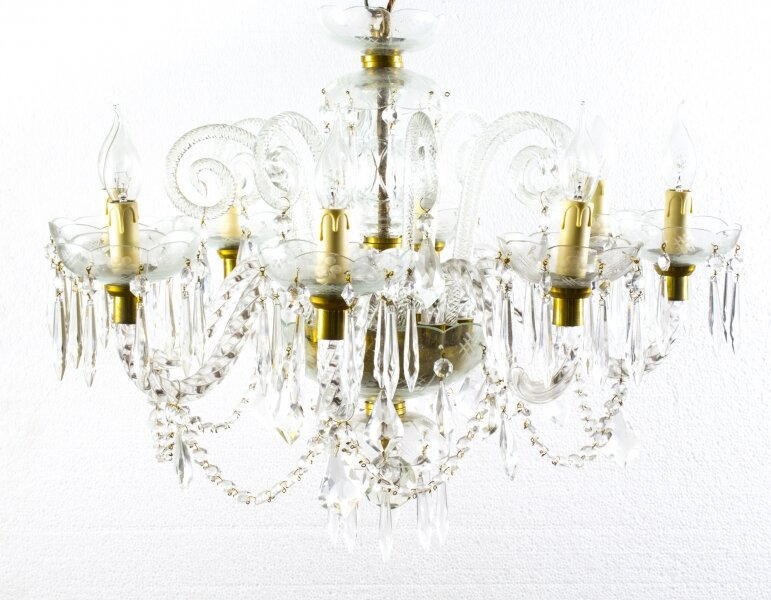 Superb Vintage Venetian Eight Light Crystal Chandelier | Ref. no. 07821a | Regent Antiques