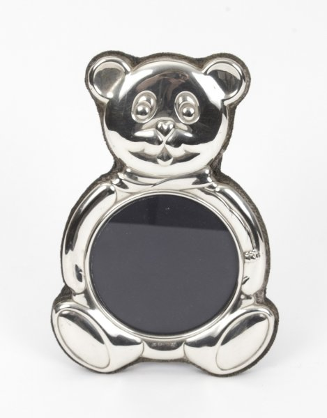 Stunning Vintage Teddy Bear Sterling Silver Photo Frame | Ref. no. 07828 | Regent Antiques