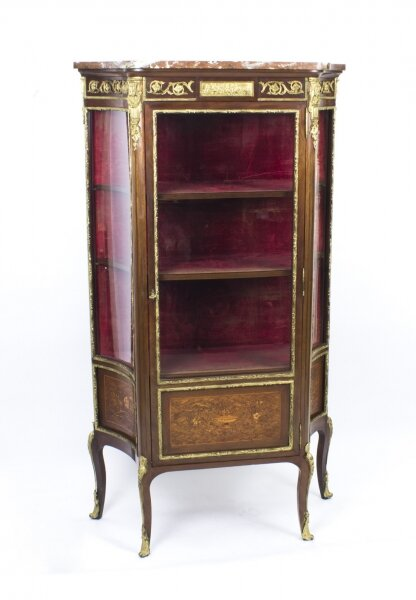 Antique French Louis Revival Parquetry Display Cabinet 1870 | Ref. no. 07854 | Regent Antiques