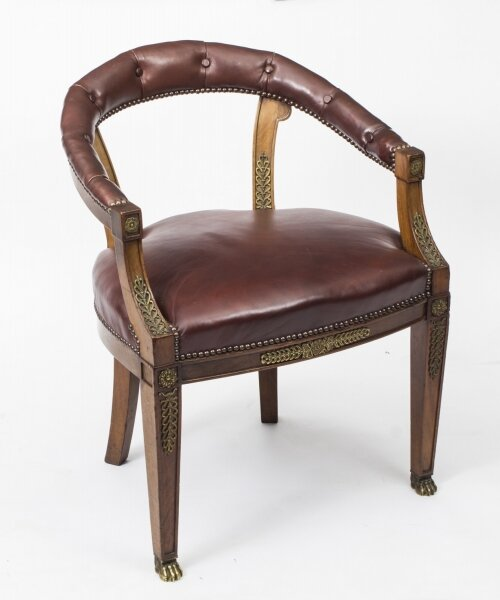 Antique Second Empire  Mahogany Tub Arm Desk Chair c.1850 | Ref. no. 07967 | Regent Antiques