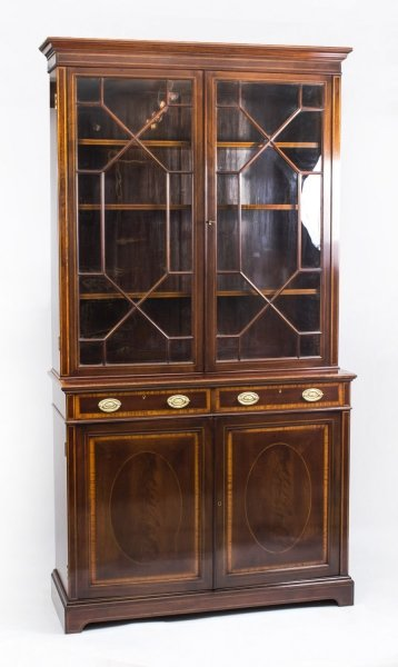 Antique Edwardian Inlaid  Mahogany Bookcase by Maple & Co C1900 | Ref. no. 07973 | Regent Antiques