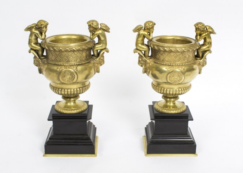 Antique Pair of French Gilt Bronze Urns | Ref. no. 08021 | Regent Antiques
