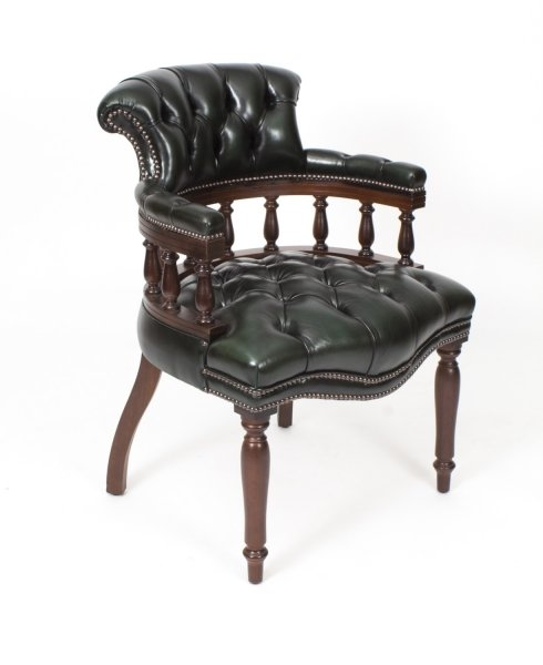 Tremendous Bespoke English Hand Made Leather Captains Desk Chair Alga Colour Uwap Interior Chair Design Uwaporg