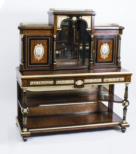 Victorian Bonhour Du Jour | Amboyna | Ladies Writing Desk | Ref. no. 08143 | Regent Antiques