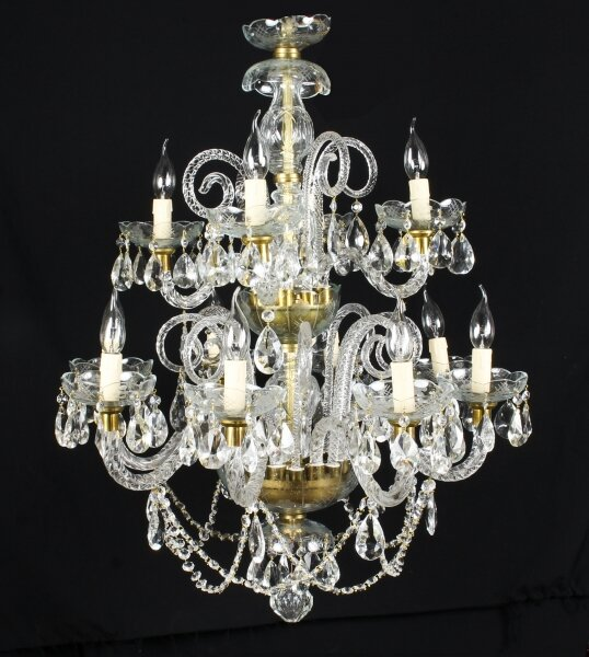 Vintage Venetian Two Tier 12 Light Crystal Chandelier 20th Century | Ref. no. 08207a | Regent Antiques