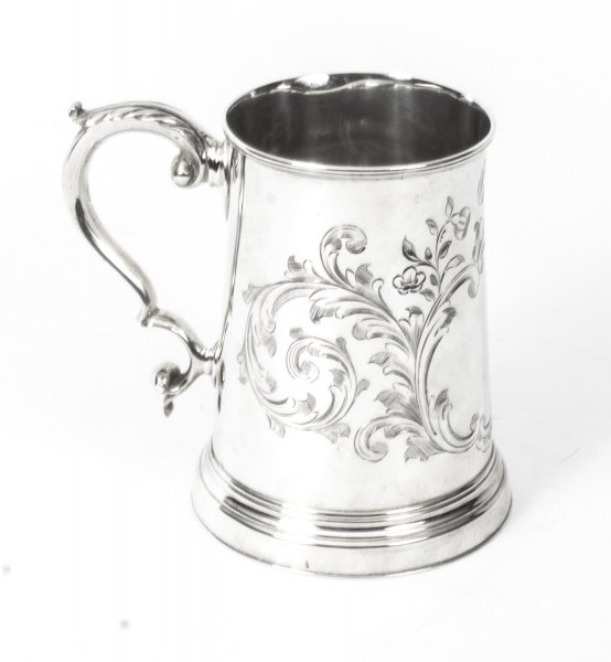 Antique Victorian Silver Plated & Engraved Mug C1870 | Ref. no. 08248 | Regent Antiques