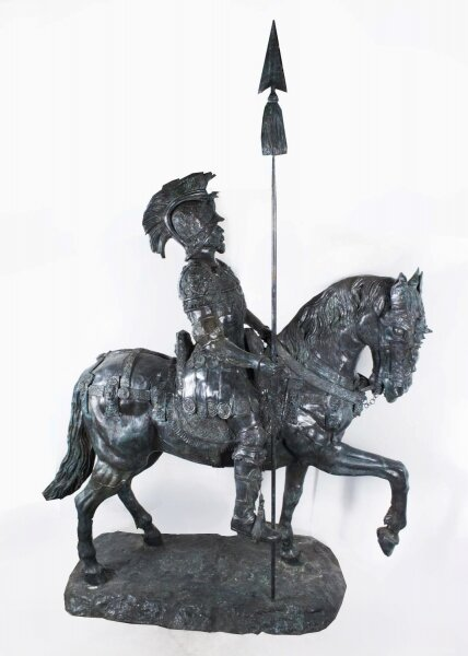 Large Life Size Bronze Sculpture Roman Cavalry Officer On Horseback | Ref. no. 08263 | Regent Antiques