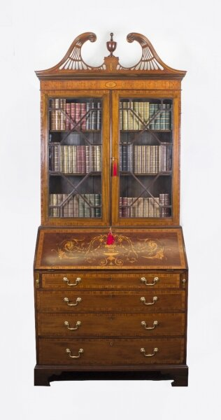 Antique English Victorian Mahogany Bureau Bookcase C1860 | Ref. no. 08271 | Regent Antiques