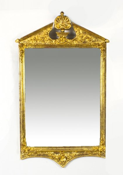 Antique George II Style Gilded Wall Mirror Circa 1870  102 x 60cm | Ref. no. 08331 | Regent Antiques