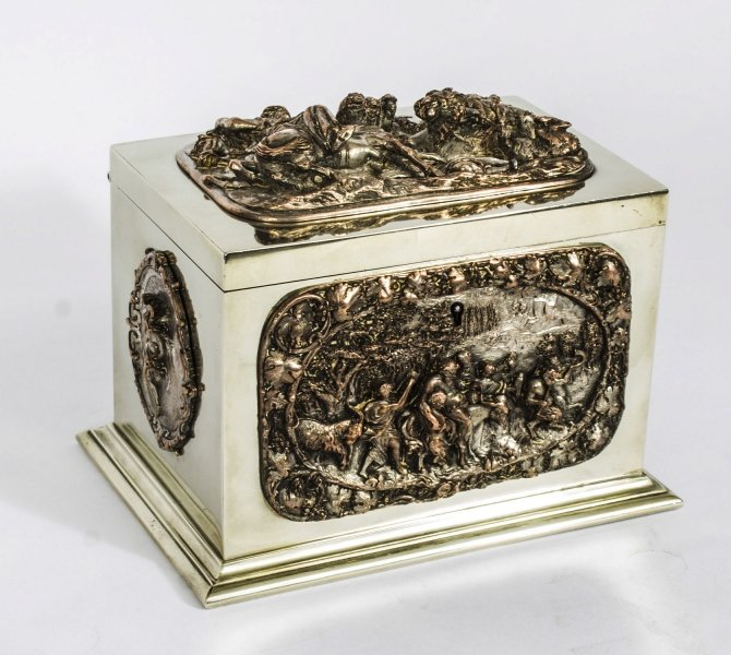 Antique French Silvered Copper & Brass Jewellery Casket C1820 | Ref. no. 08335 | Regent Antiques