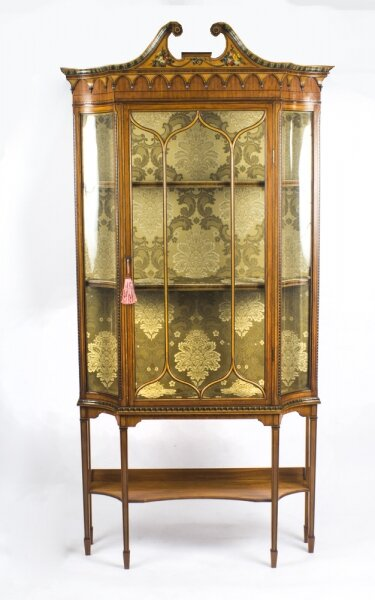 Antique Edwardian  Sheraton Revival Painted Satinwood Display Cabinet  19th C | Ref. no. 08395b | Regent Antiques