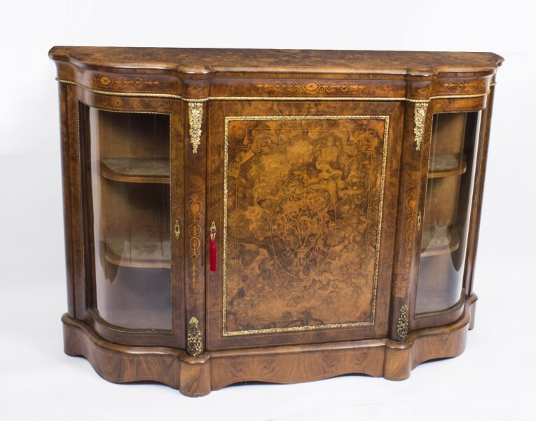 Antique Victorian Burr Walnut Inlaid Ormolu Mounted Credenza c.1860 | Ref. no. 08396 | Regent Antiques