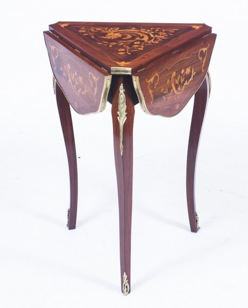 Antique Louis Revival Marquetry Triform Occasional Table C1870 | Ref. no. 08459 | Regent Antiques