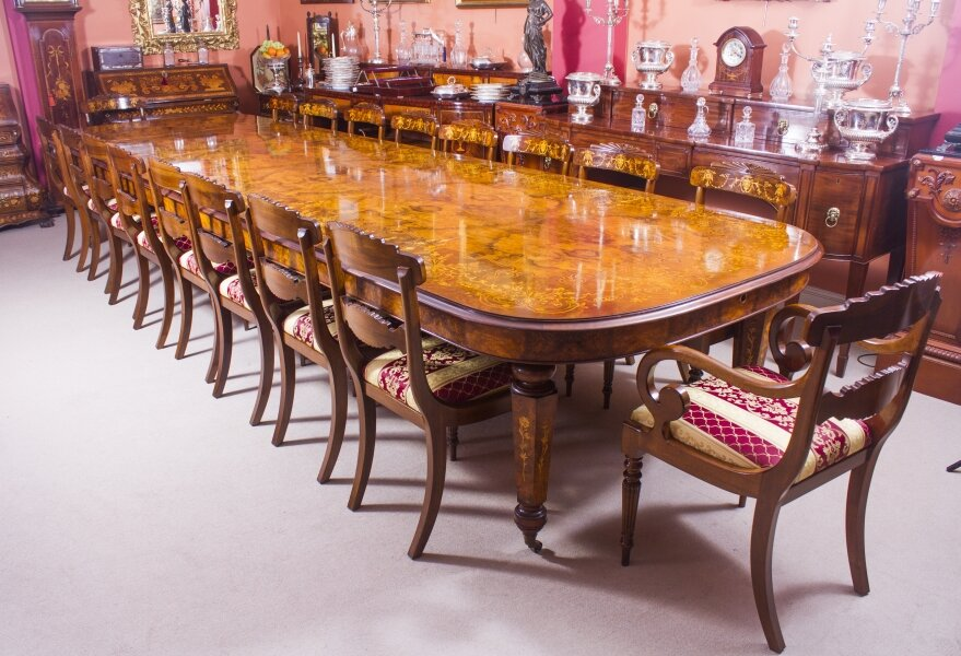 Victorian Style Dining Table & Chairs Set | Large Victorian Dining Table | Ref. no. 08529a | Regent Antiques