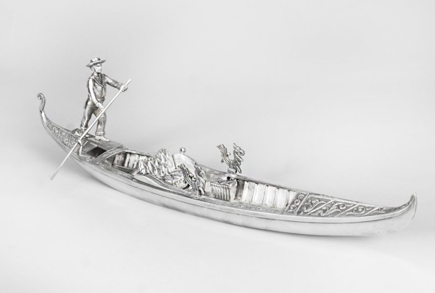 Antique Silvered Bronze Gondola | Ref. no. 08588 | Regent Antiques