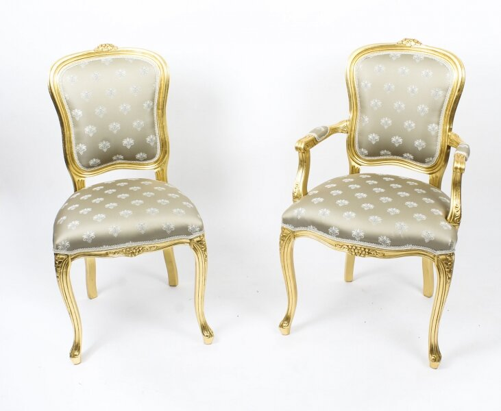 Bespoke Set of Giltwood Dining Chairs in the Louis XVI Style Available to Order | Ref. no. 08597 | Regent Antiques