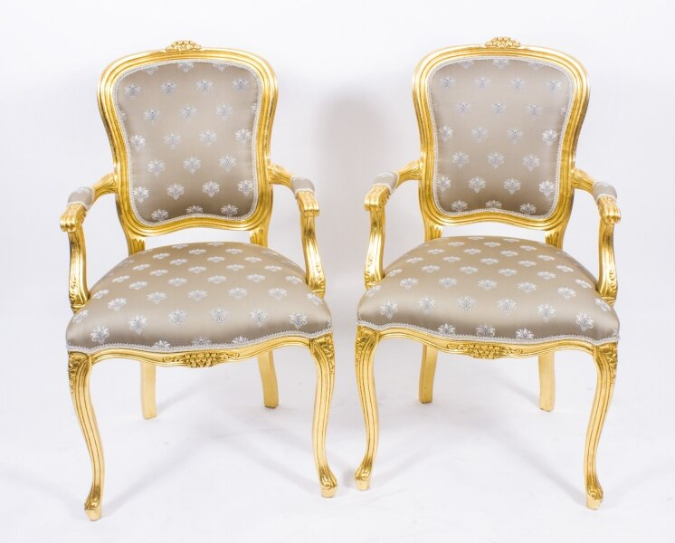 Superb Bespoke Pair French Louis Revival Giltwood Armchairs | Ref. no. 08597a | Regent Antiques