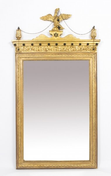Antique George II Style Parcel Gilt Wall Mirror Circa 1860  143x73cm | Ref. no. 08723 | Regent Antiques