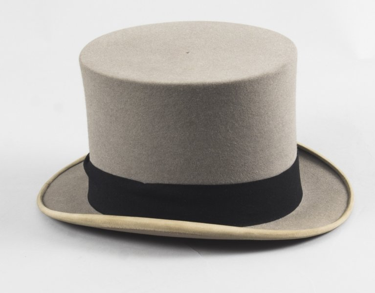 Antique Grey Felt Top Hat by Scott & Co C1920 | Ref. no. 08738 | Regent Antiques