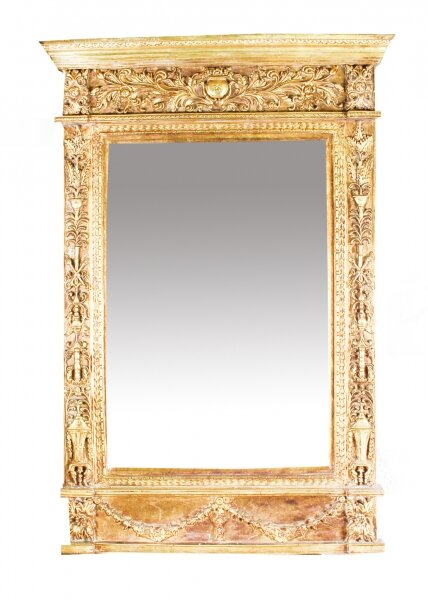 Vintage Stunning Large Ornate Italian Gilded Mirror   141 x 94 cm | Ref. no. 08836d | Regent Antiques