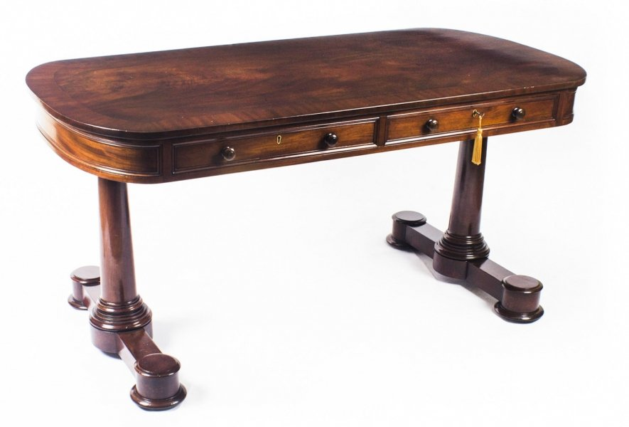 Antique writing table | Victorian library centre table | Ref. no. 08851 | Regent Antiques