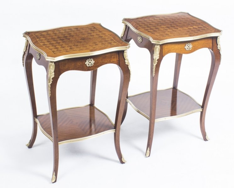 Antique Pair Parquetry  & Ormolu Mounted Occasional  Tables 19th C | Ref. no. 08905 | Regent Antiques