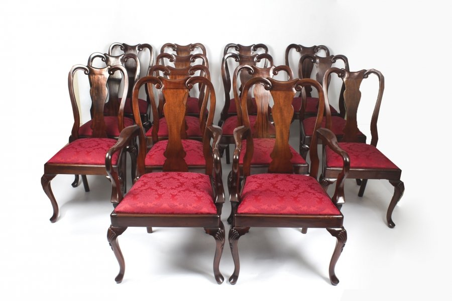 Queen Anne Style dining chairs | Ref. no. 08992 | Regent Antiques