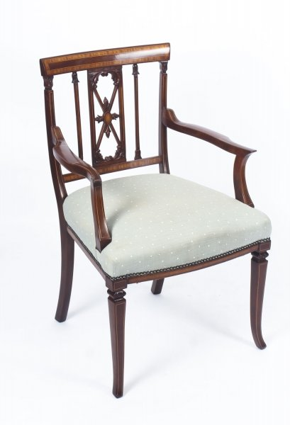 Antique Sheraton Revival Mahogany Inlaid Armchair  19th C | Ref. no. 09000 | Regent Antiques